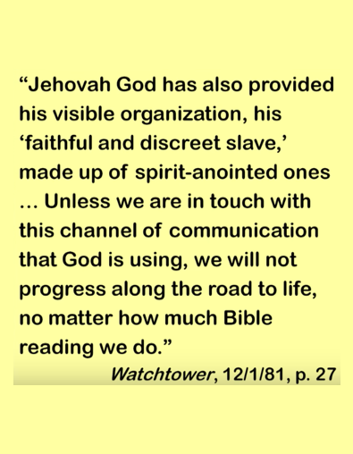 Watchtower December 1981 quote